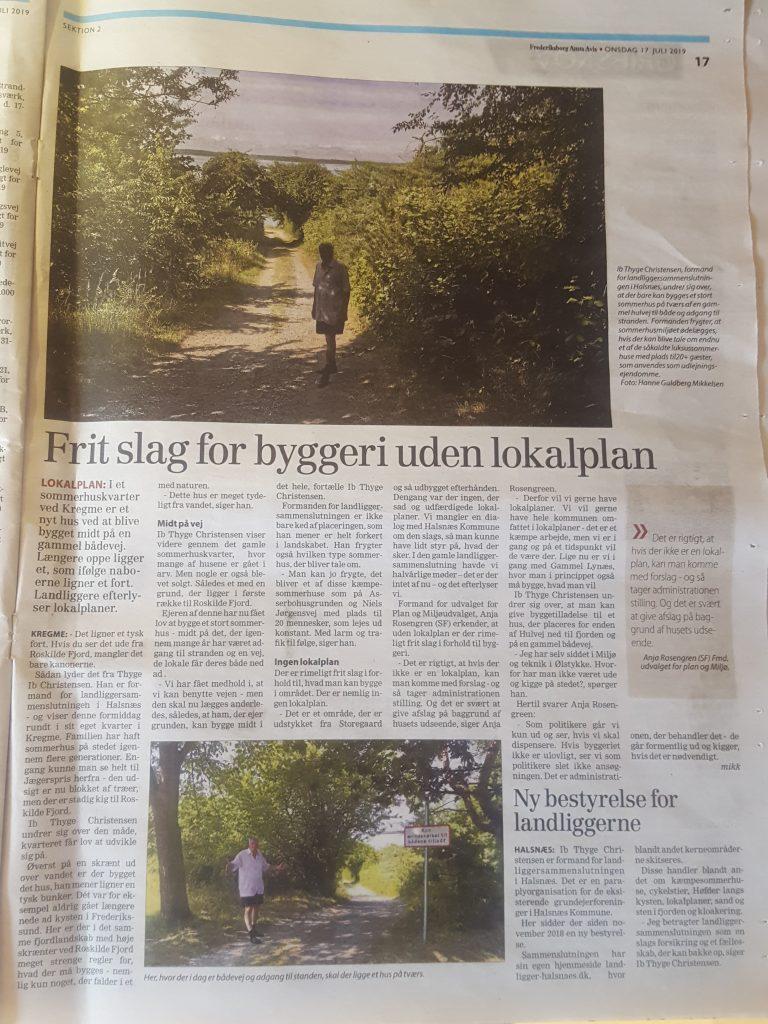 Frederiksborg Amts Avis 17.7.2019 - Frit slag for byggeri