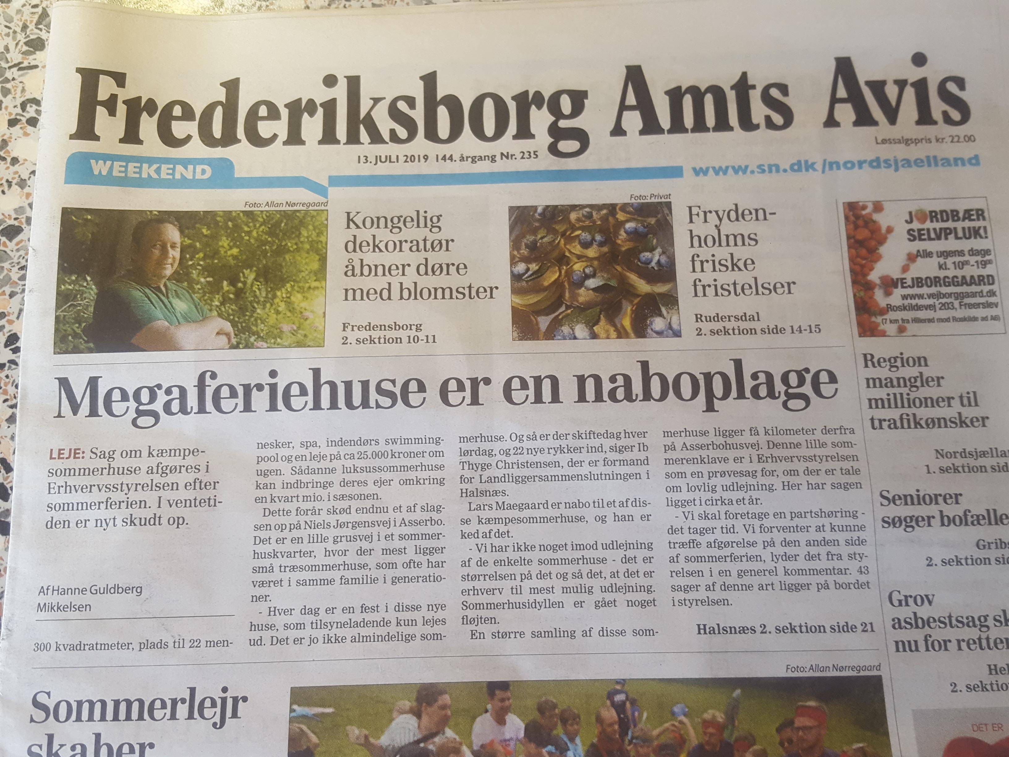 Frederiksborg Amts Avis 13.7.2019 - Megaferiehuse